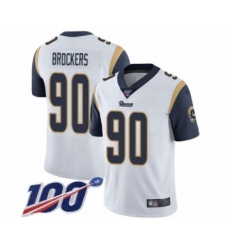 Men's Los Angeles Rams #90 Michael Brockers White Vapor Untouchable Limited Player 100th Season Football Jersey