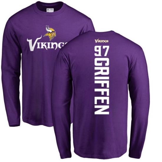 New NFL Nike Minnesota Vikings #97 Everson Griffen Purple Backer Long  supplier