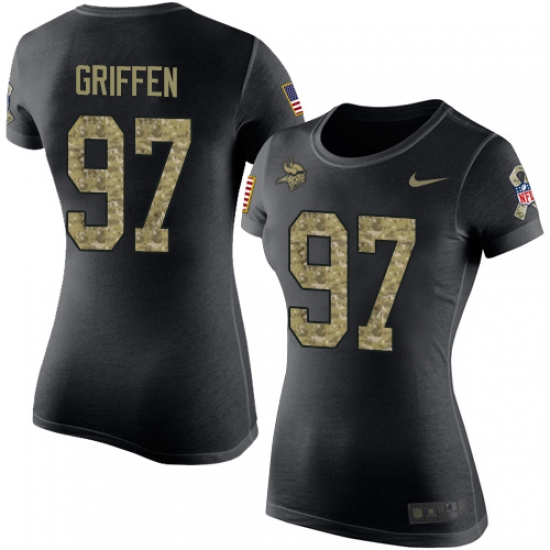huge selection of e786a c1183 Women's Nike Minnesota Vikings #97 Everson Griffen Black ...