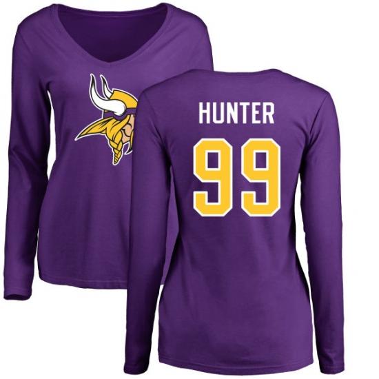 8261f1e931a ... Long Sleeve T-Shirt. Product details. NFL Women's Nike Minnesota Vikings  #99 Danielle Hunter Purple Name & Number Logo Slim Fit