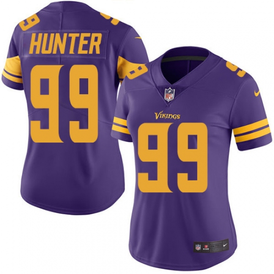 85f97a2aa53 Women's Nike Minnesota Vikings #99 Danielle Hunter Elite Purple Rush Vapor  Untouchable NFL Jersey
