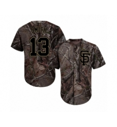 Youth San Francisco Giants #13 Will Smith Authentic Camo Realtree Collection Flex Base Baseball Jersey