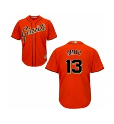 Youth San Francisco Giants #13 Will Smith Authentic Orange Alternate Cool Base Baseball Jersey