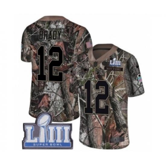 buy popular b1656 474c9 Men's Nike New England Patriots #12 Tom Brady Camo Rush ...