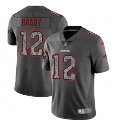 Men's Nike New England Patriots #12 Tom Brady Gray Static Vapor Untouchable Limited NFL Jersey