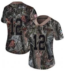 Women's Nike New England Patriots #12 Tom Brady Camo Rush Realtree Limited NFL Jersey