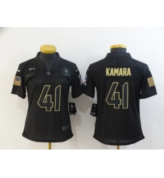 Women's New Orleans Saints #41 Alvin Kamara Black Nike 2020 Salute To Service Limited Jersey