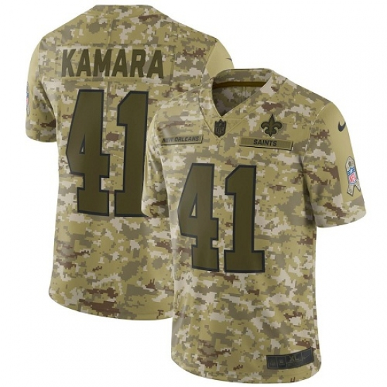 Youth Nike New Orleans Saints  41 Alvin Kamara Limited Camo 2018 Salute to  Service NFL ae9933028