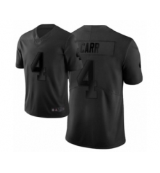 Men's Oakland Raiders #4 Derek Carr Limited Black City Edition Football Jersey