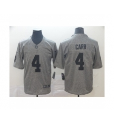 Men's Oakland Raiders #4 Derek Carr Limited Gray Rush Gridiron Football Jersey