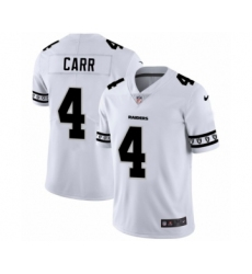 Men's Oakland Raiders #4 Derek Carr White Team Logo Cool Edition Jersey