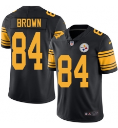 Men's Nike Pittsburgh Steelers #84 Antonio Brown Limited Black Rush Vapor Untouchable NFL Jersey