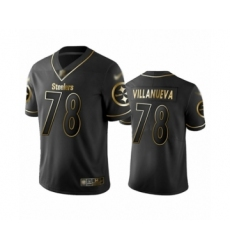Men's Pittsburgh Steelers #78 Alejandro Villanueva Limited Black Golden Edition Football Jersey