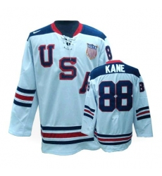 Men's Nike Team USA #88 Patrick Kane Authentic White 1960 Throwback Olympic Hockey Jersey