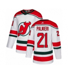 Youth Adidas New Jersey Devils #21 Kyle Palmieri Authentic White Alternate NHL Jersey