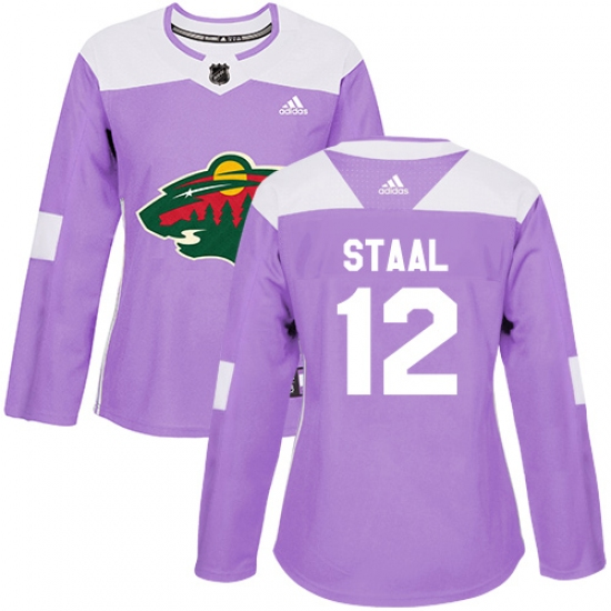 cheap for discount 53fda a979e Women's Adidas Minnesota Wild #12 Eric Staal Authentic ...