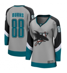 Women's San Jose Sharks #88 Brent Burns Fanatics Branded Gray 2020-21 Special Edition Breakaway Player Jersey