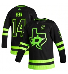 Men's Dallas Stars #14 Jamie Benn adidas Black 2020-21 Alternate Authentic Player Jersey