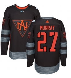 Men's Adidas Team North America #27 Ryan Murray Authentic Black Away 2016 World Cup of Hockey Jersey