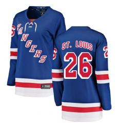 Women's New York Rangers #26 Martin St. Louis Fanatics Branded Royal Blue Home Breakaway NHL Jersey