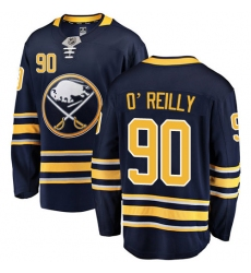 Men's Buffalo Sabres #90 Ryan O'Reilly Fanatics Branded Navy Blue Home Breakaway NHL Jersey