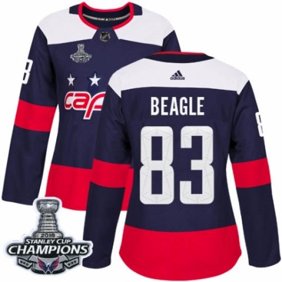promo code 4868d f03ff Women's Adidas Washington Capitals #83 Jay Beagle Authentic ...