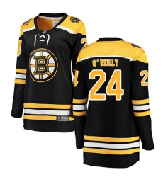 Women's Boston Bruins #24 Terry O'Reilly Authentic Black Home Fanatics Branded Breakaway NHL Jersey