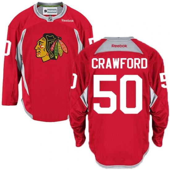 Men s Reebok Chicago Blackhawks  50 Corey Crawford Premier Red Practice NHL  Jersey 11c4d84cd