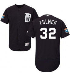 Men's Majestic Detroit Tigers #32 Michael Fulmer Navy Blue Flexbase Authentic Collection MLB Jersey