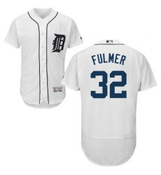 Men's Majestic Detroit Tigers #32 Michael Fulmer White Flexbase Authentic Collection MLB Jersey