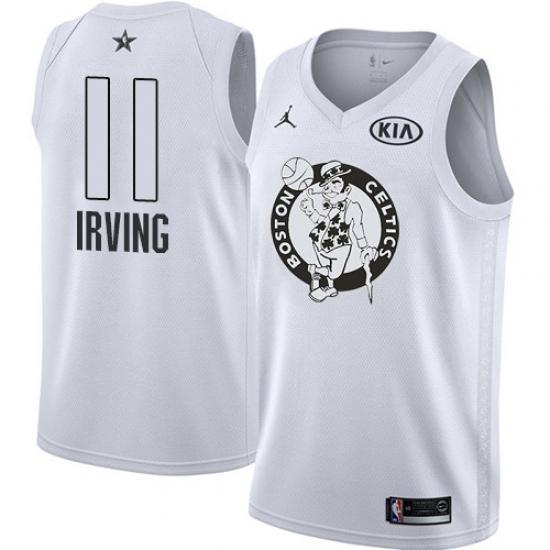 2f3cd2b5a97 Youth Nike Jordan Boston Celtics #11 Kyrie Irving Swingman White 2018 All-Star  Game