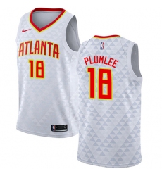 2dc113156e4 Youth Nike Atlanta Hawks #18 Miles Plumlee Authentic White NBA Jersey - Association  Edition
