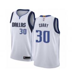 Men's Dallas Mavericks #30 Seth Curry Authentic White Basketball Jersey - Association Edition