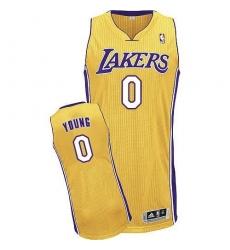f53eb6ecf Revolution 30 Lakers  0 Nick Young Yellow Stitched NBA Jersey