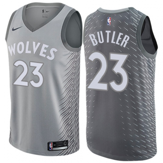the best attitude 41647 107d1 Men's Nike Minnesota Timberwolves #23 Jimmy Butler Authentic ...