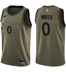 890e2ed0cb68 Men s Nike Toronto Raptors  0 C.J. Miles Swingman Green Salute to Service  NBA Jersey