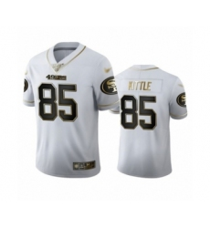 Men's San Francisco 49ers #85 George Kittle Limited White Golden Edition Football Jersey