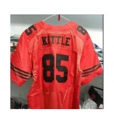 Men's San Francisco 49ers #85 George Kittle red black Jersey