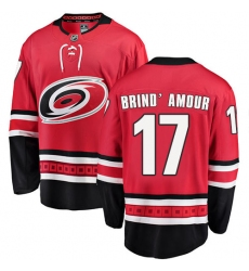 Men's Carolina Hurricanes #17 Rod Brind'Amour Fanatics Branded Red Home Breakaway NHL Jersey