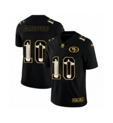 Men's San Francisco 49ers #10 Jimmy Garoppolo Black Jesus Faith Limited Football Jersey