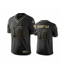 Men's San Francisco 49ers #10 Jimmy Garoppolo Limited Black Golden Edition Football Jersey