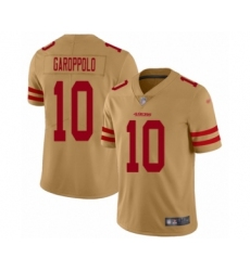 Men's San Francisco 49ers #10 Jimmy Garoppolo Limited Gold Inverted Legend Football Jersey