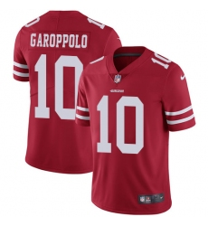 Youth Nike San Francisco 49ers #10 Jimmy Garoppolo Red Team Color Vapor Untouchable Limited Player NFL Jersey