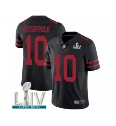 Youth San Francisco 49ers #10 Jimmy Garoppolo Black Vapor Untouchable Limited Player Super Bowl LIV Bound Football Jersey