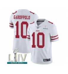 Youth San Francisco 49ers #10 Jimmy Garoppolo White Vapor Untouchable Limited Player Super Bowl LIV Bound Football Jersey