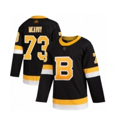 Men's Boston Bruins #73 Charlie McAvoy Authentic Black Alternate Hockey Jersey