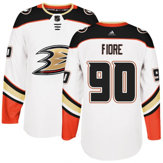 Youth Adidas Anaheim Ducks  90 Giovanni Fiore Authentic White Away NHL  Jersey ad8282775
