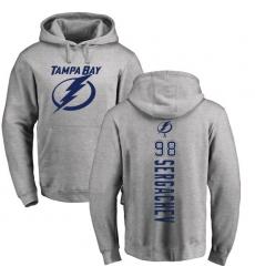 NHL Adidas Tampa Bay Lightning  98 Mikhail Sergachev Ash Backer Pullover  Hoodie 7b56c985c