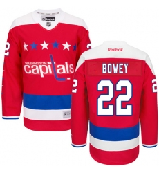 Women's Reebok Washington Capitals #22 Madison Bowey Premier Red Third NHL Jersey