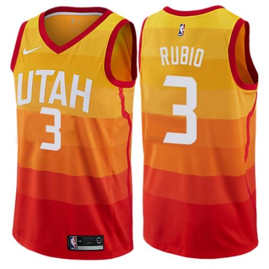 best service 49c05 ea8f3 Women's Nike Utah Jazz #3 Ricky Rubio Swingman Orange NBA ...
